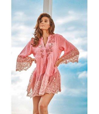 Iconique Bella 3/4 Sleeve Mini Dress Pink