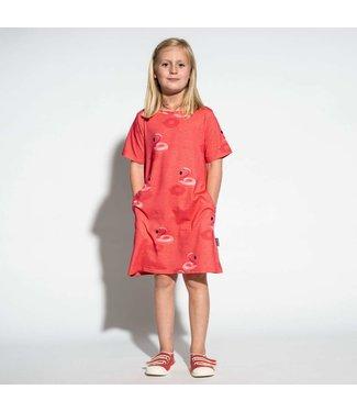 Snurk Snurk Floating flamingo T-shirt Dress Kids