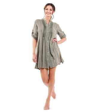 DavidBeach Coco 3/4 Sleeve Shirt  Dress Khaki