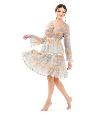 DavidBeach Ischia 3/4 Sleeve Dress Sand