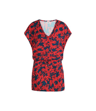 Beachlife Tunic Blue Lilies 070805-695