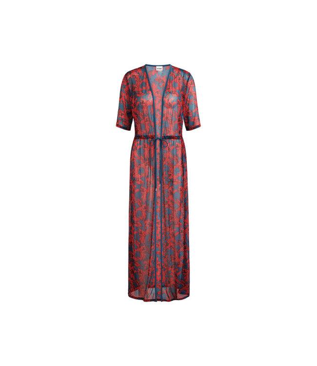 Beachlife Kimono Blue Lilies 070807-695