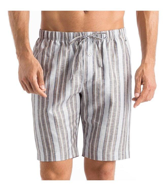 Hanro V-Neck Men Night&Day Set Bleached Stripe Caribbean Blue