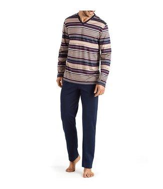 Hanro Darian Long Sleeves Bordeaux Stripe 075156