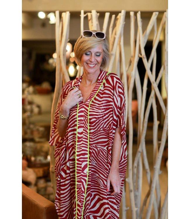 Twin-Set Dress 201LB2GFF St.Zebra Flirty Rose