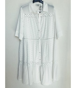 Twin-Set Romantic Dress 201LM2LCC Bianco Ottico