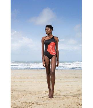 Twin-Set One Shoulder swimsuit 201LBM8YY St.Rose Nero