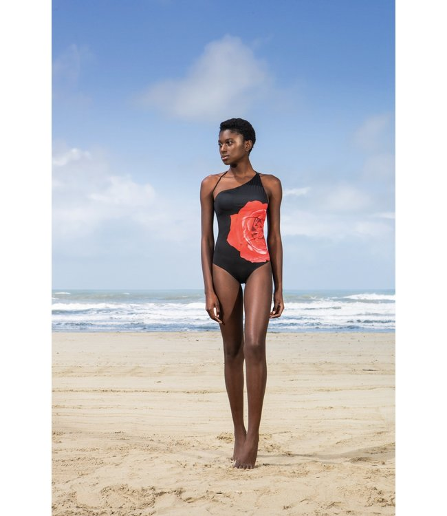 Twin-Set One Shoulder swimsuit 201LBM8YY St.Rose Nero