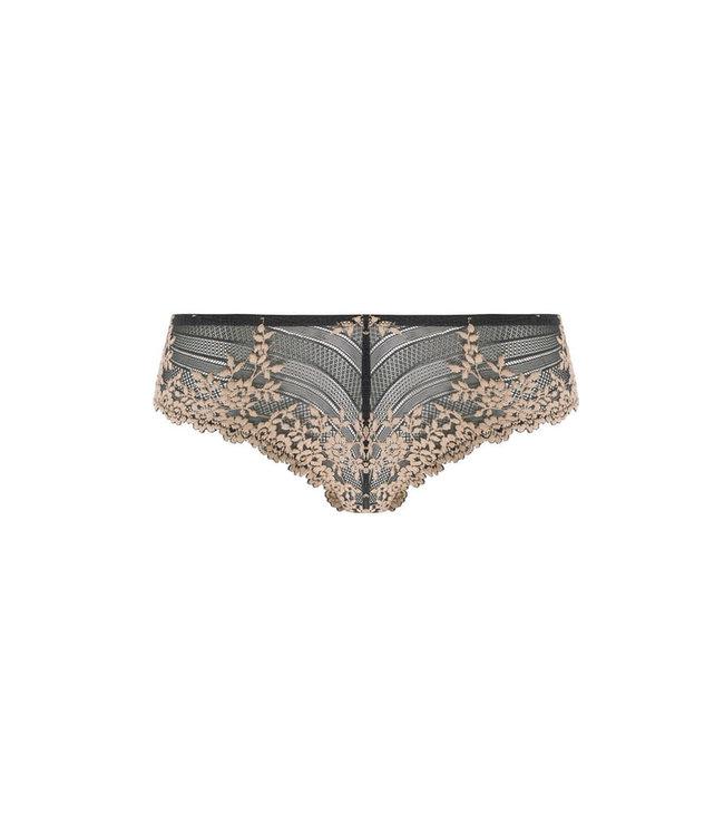 Wacoal Embrace Lace Ebony/Sand Tanga
