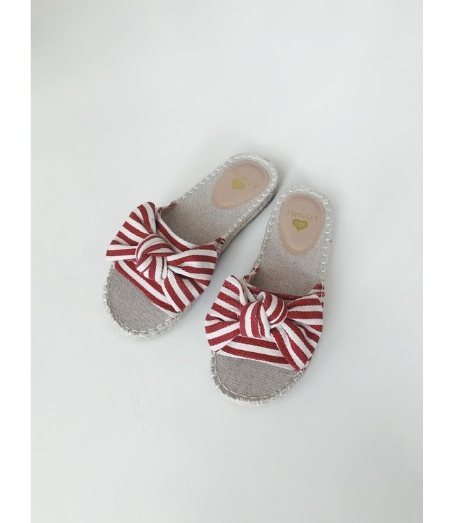Twin-Set Slipper 201LMPZRR Bicolor True Red/Ottico