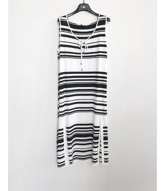 Twin-Set Striped Dress Bicolor 201LM2FFF Nero/Ottico
