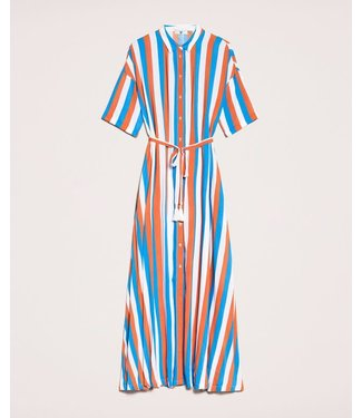 Twin-Set Striped Dress Multicolor 201LM2FBB Blue/Choco/Ottico