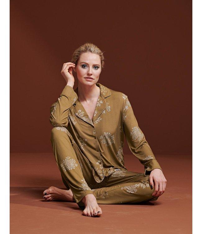 Essenza Senna Lauren Pyjama Top Cinnamon