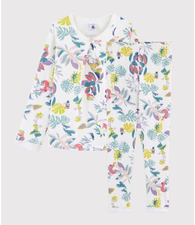 Petit Bateau Pyjamaset Marshmallow/Multicolor 55898