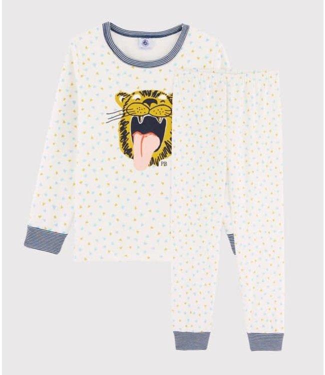 Petit Bateau Pyjamaset Marshmallow/Multicolor 56640