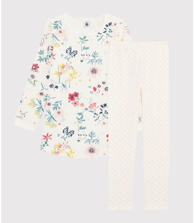 Petit Bateau Pyjamaset Marshmallow/Multicolor 57109