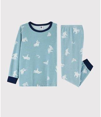 Petit Bateau Pyjamaset Brume/Marshmallow 57242