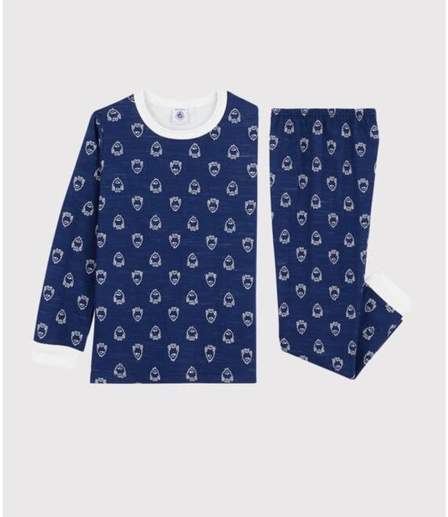 Petit Bateau Pyjamaset Medieval/Marshmallow 57245