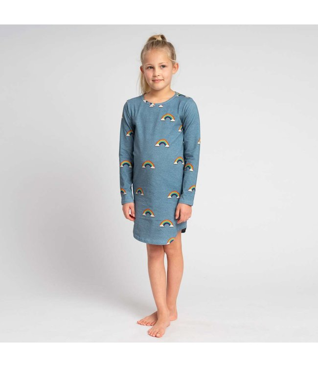 Snurk Clay Rainbow Long Sleeve Dress Kids