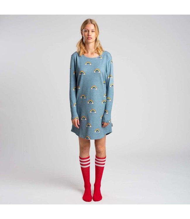 Snurk Clay Rainbow Long Sleeve Dress Woman