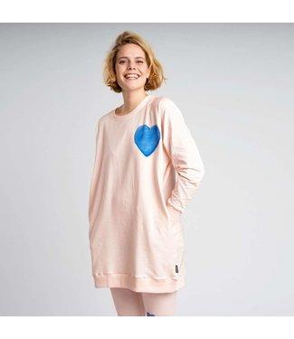 Snurk Clay Heart Sweater Dress Woman