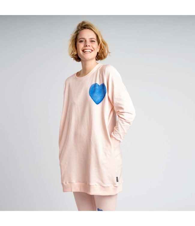 Snurk Clay Heart Sweater Dress Woman