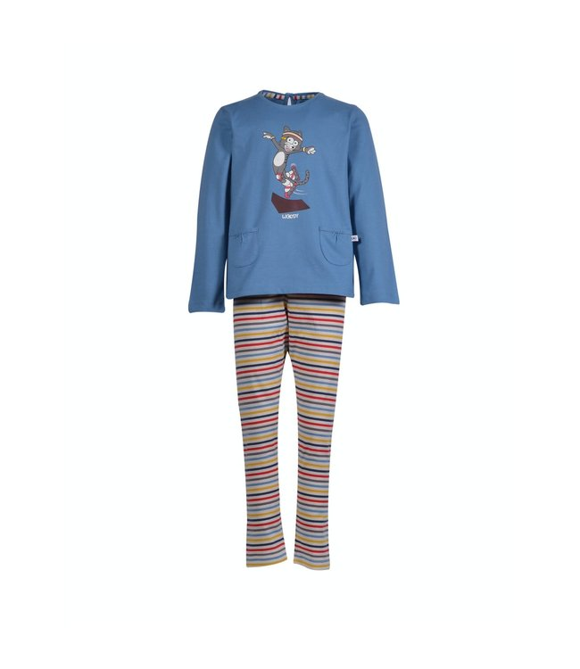 Woody 202-1-BSL-S/845Meisjes-Dames pyjama