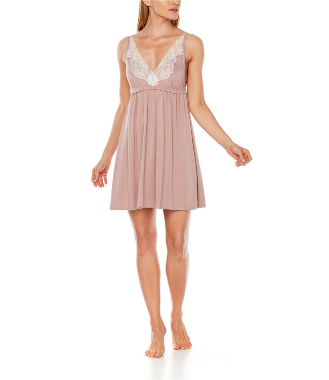 Coemi Tonia Nightdress Short Sandrose/Cream C109