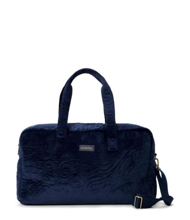 Essenza Pebbles Velvet Weekender Bag Indigo Blue