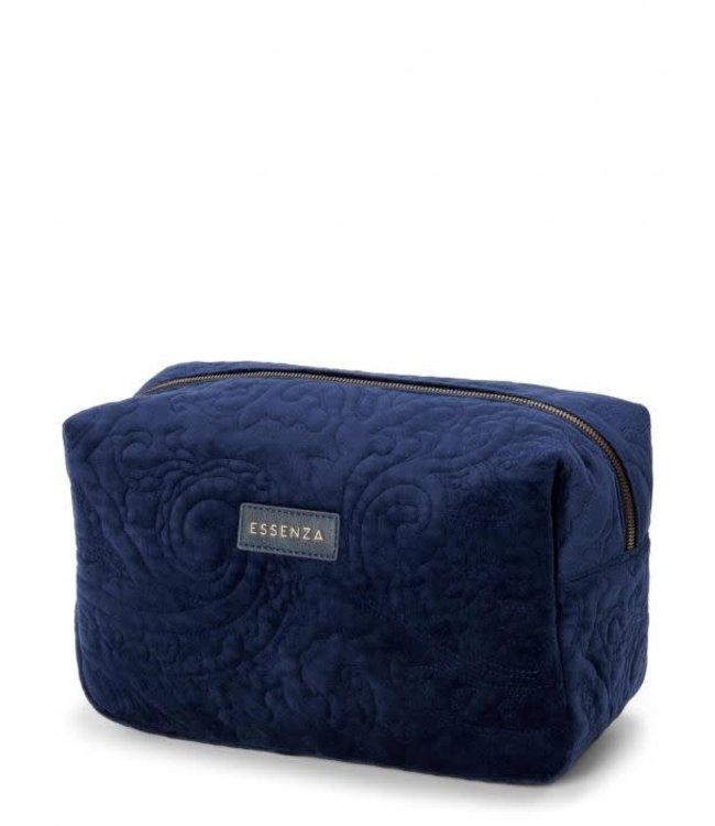 Essenza Pepper Velvet Make-Up Bag Large Indigo Blue