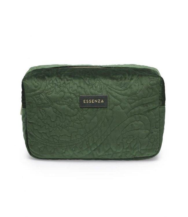 Essenza Pepper Velvet Make-Up Bag Large  Green