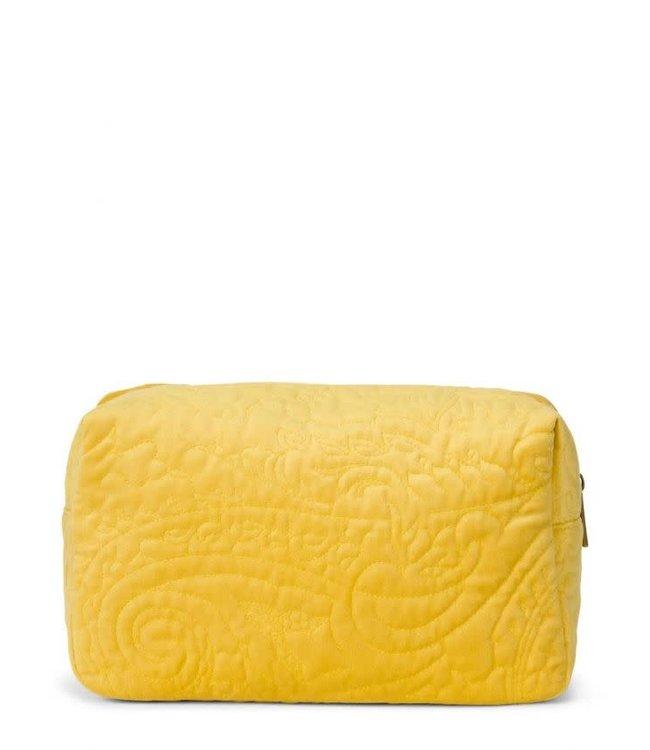 Essenza Pepper Velvet Make-Up Bag Large Mustard