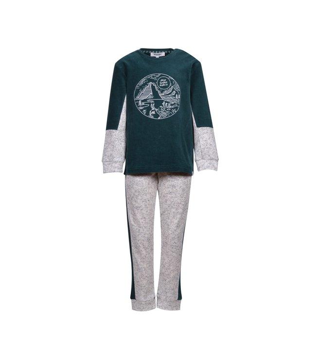 Woody 202-2-QPI-V/799 Velours Jongens-Heren pyjama
