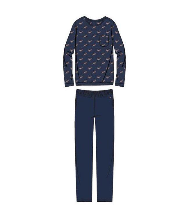 Woody 202-1-MRL-S/968Heren pyjama