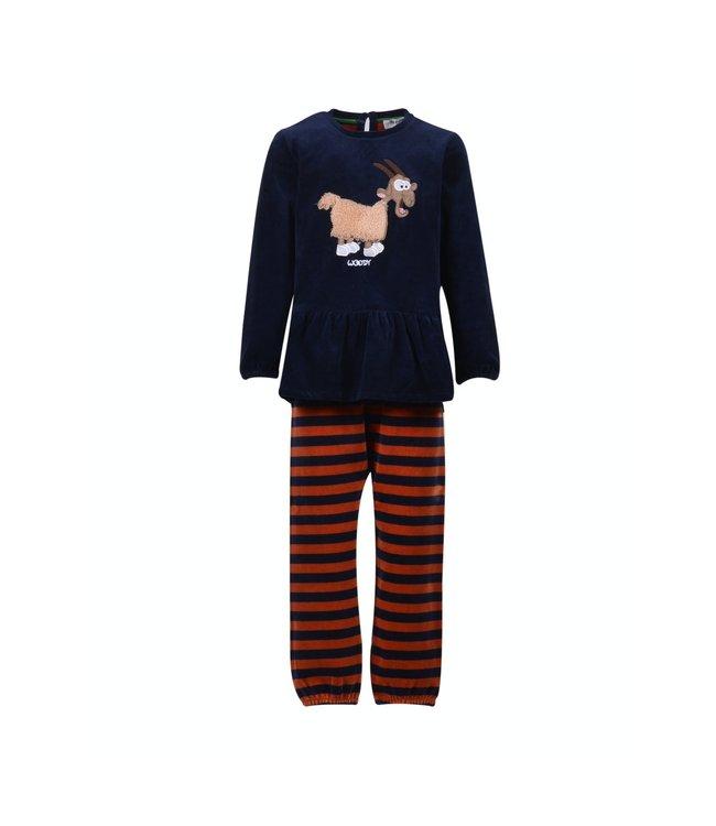 Woody 202-1-PDL-V/895Meisjes-Dames pyjama