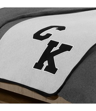 Calvin Klein Plaid Varsity 127x178 Heather Grey/Black