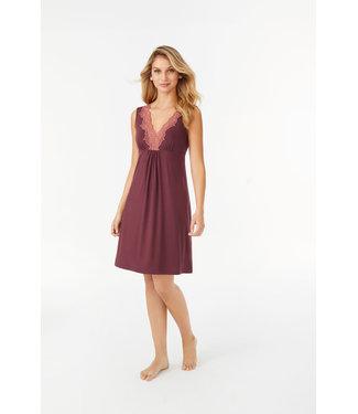 Promise Sleeveless Nightdress Short Burgundy