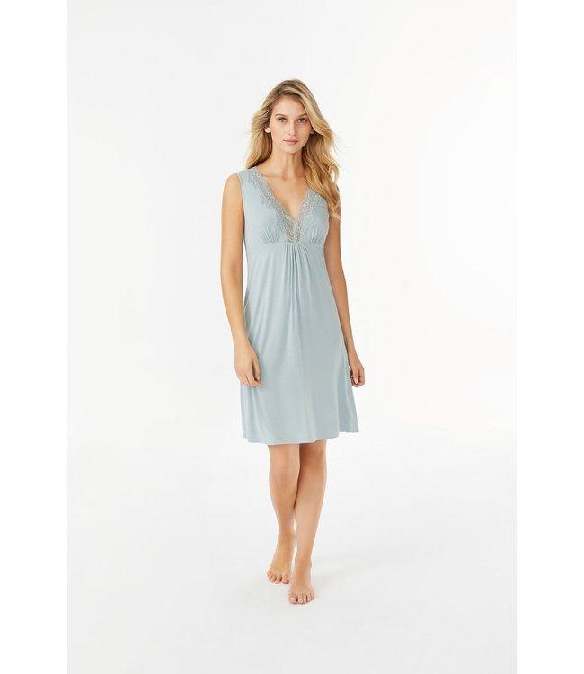 Promise Sleeveless Nightdress Short Azuurblauw