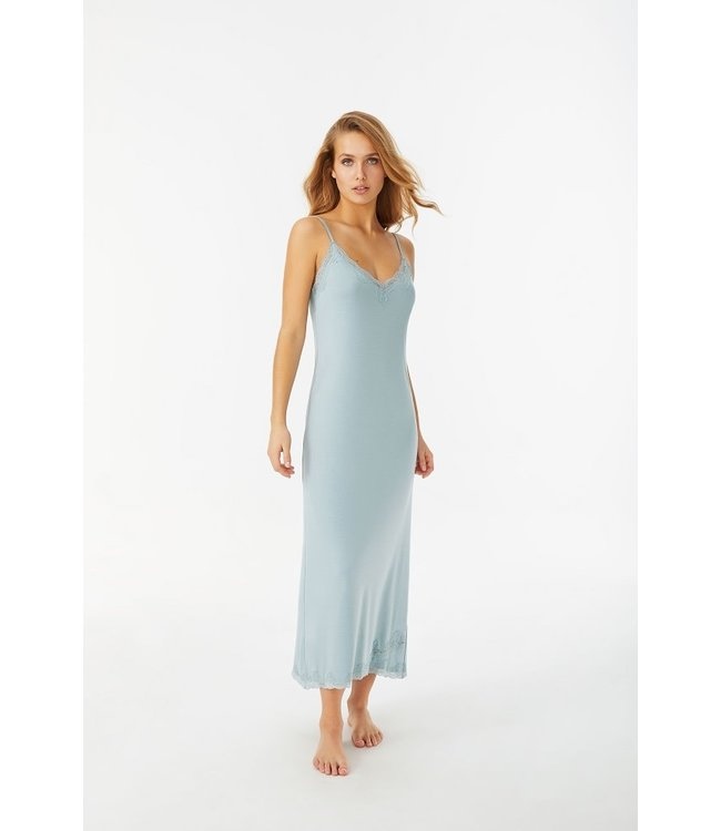 Promise Nightdress Long Azuurblauw