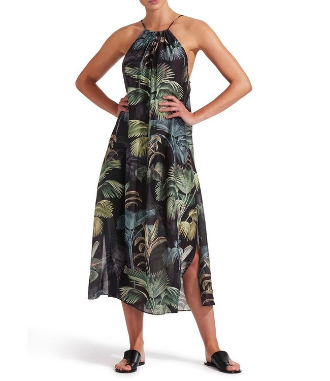 Jets Swimwear Evoke Maxi Dress Green Palm
