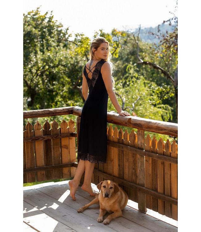 Coemi Sleeveless Nightdress Lori Black 105