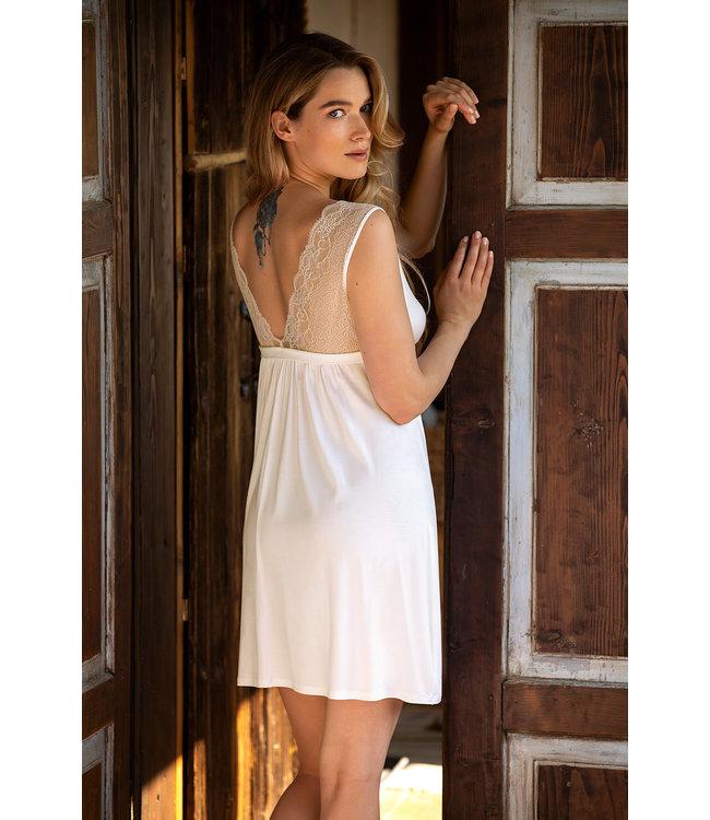 Coemi Short Sleeveless Nightdress Madison Ecru 501