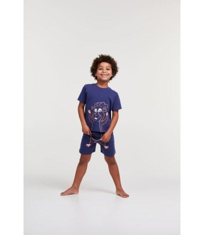 Woody 211-1-PLE-Z/896Jongens-Heren pyjama