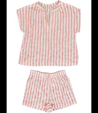 Dorélit Meisjesshortset Edna & Cupido Stripe Raspberry