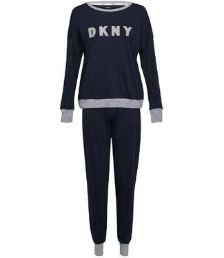 DKNY L/S Top&Jogger New Signature Navy Ink