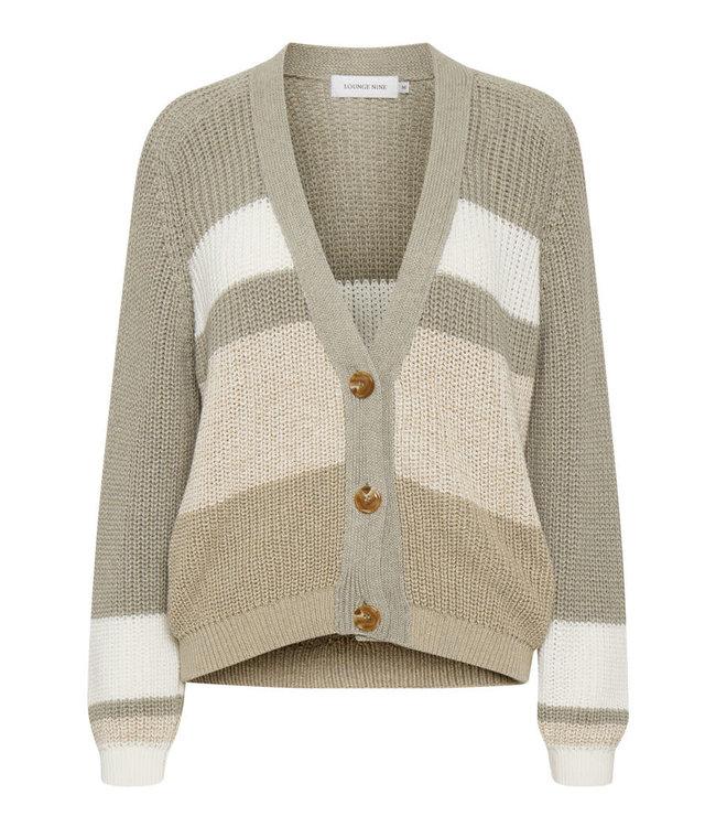 Lounge Nine Emmeline Knit Cardigan Striped Mixed