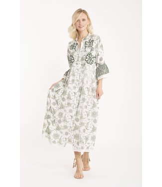Iconique Lily 3/4 Sleeve Dress Selva Express Green