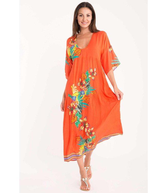 DavidBeach Bodrum Maxi Dress Rio Dance Orange