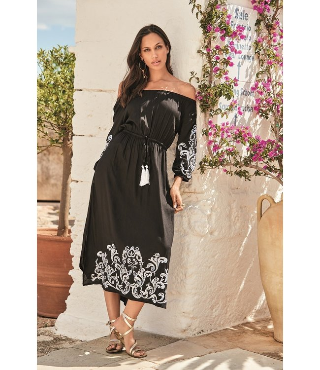 Iconique Serena Maxi Kaftan Oman Black