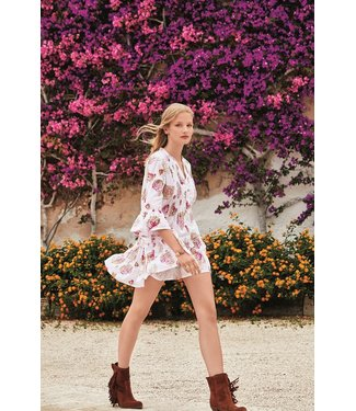 Iconique Monica 3/4 Sleeve Dress Anemone Multicolor